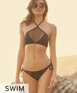 Shop Swim, Bikinis, and Resort Wear.