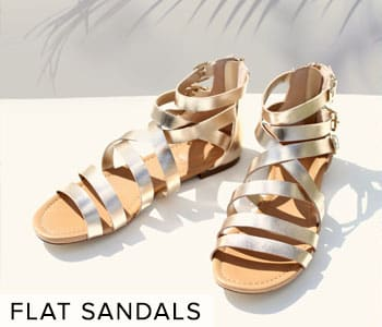 Shop Cute Shoes and Flat Sandals for Women.