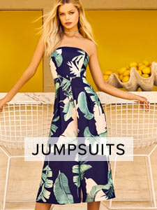 Shop Cute Rompers, Plalysuits and Jumpsuits for Women.