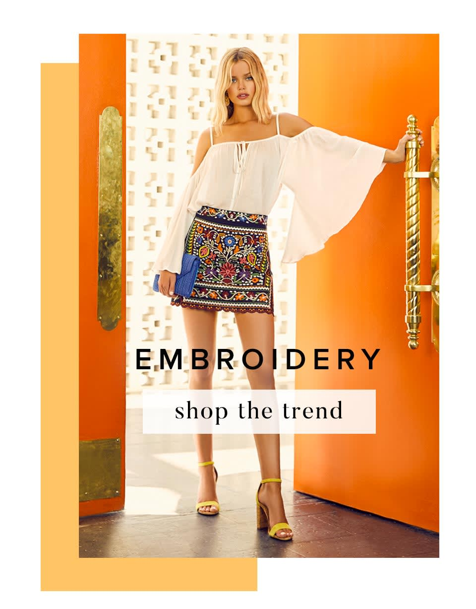 Shop Embroidered Dresses & Clothing for Women.