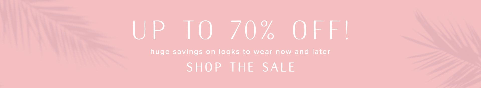 Shop Dresses, Shoes and Clothing on Sale.
