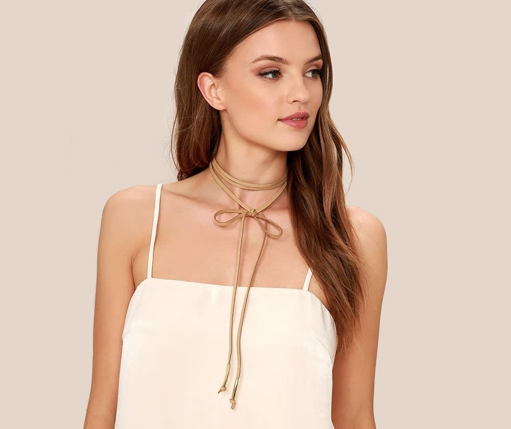 Alchemy Gold and Taupe Layered Choker Necklace
