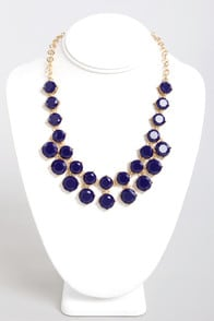 Loan Me a Stone Blue Statement Necklace at Lulus.com!