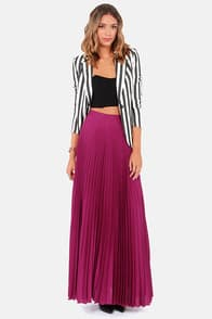 Blaque Label Mermaid's Path Magenta Maxi Skirt at Lulus.com!