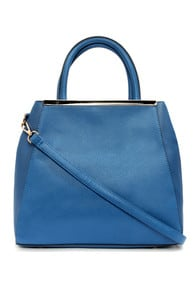 Tote Couture Blue Tote at Lulus.com!