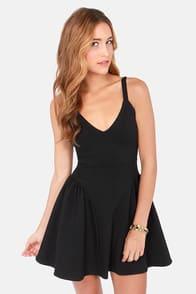 Play it By Panier Black Dress at Lulus.com!
