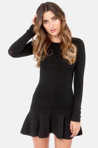 Swinging Sixties Black Mini Dress at Lulus.com!