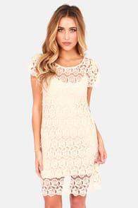 Black Swan Presley Cream Lace Dress at Lulus.com!