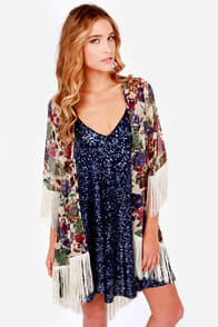 Somewhere My Love Purple and Beige Kimono Top at Lulus.com!