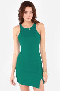 Huntingbird Side Step Teal Blue Dress at Lulus.com!