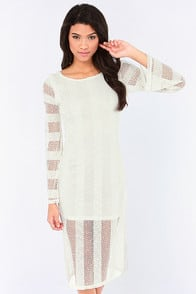 RVCA Arbuckle Ivory Lace Dress at Lulus.com!
