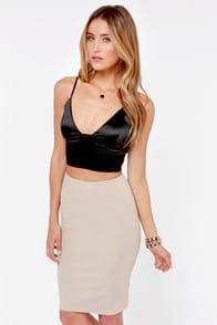 48bf62f0da78c Real vs. Steal  Alexander Wang Black Triangle Crop Top - Lulus.com ...