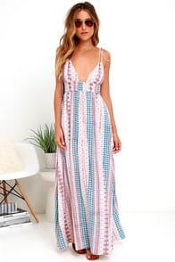 MAXIN' RELAXIN' MULTI PRINT MAXI DRESS at Lulus.com!