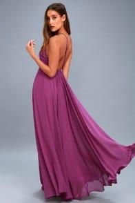 Mythical Kind of Love Magenta Maxi Dress at Lulus.com!