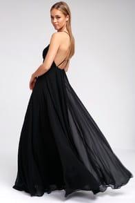 Mythical Kind of Love Black Maxi Dress at Lulus.com!