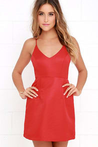 Irresistible Charms Red Dress at Lulus.com!