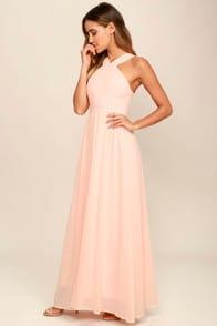 Air of Romance Peach Maxi Dress at Lulus.com!