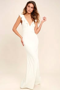 Perfect Opportunity White Maxi Dress at Lulus.com!