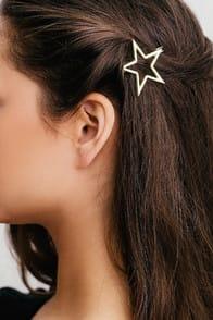 Star Light Gold Hair Clip at Lulus.com!