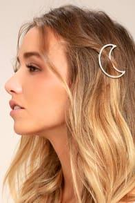 Waning Moon Silver Hair Clip at Lulus.com!