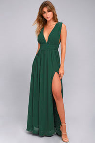 Heavenly Hues Forest Green Maxi Dress at Lulus.com!