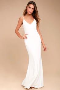 Infinite Glory White Maxi Dress at Lulus.com!