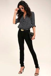 PAIGE HOXTON BLACK HIGH-WAISTED SKINNY JEANS at Lulus.com!