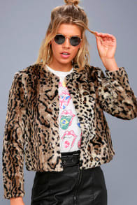 McKinley Brown Leopard Print Faux Fur Jacket at Lulus.com!