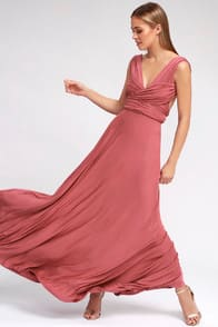Tricks of the Trade Rusty Rose Maxi Dress at Lulus.com!