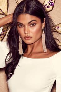 Royal Ways Beige Tassel Earrings at Lulus.com!