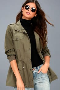 Style Sergeant Olive Green Jacket at Lulus.com!