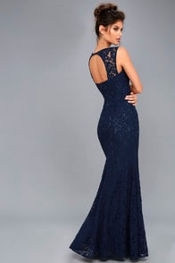 Rosetta Navy Blue Lace Maxi Dress at Lulus.com!