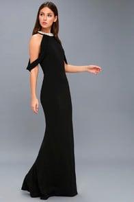 GRAND ENTRANCE BLACK PEARL MAXI DRESS at Lulus.com!