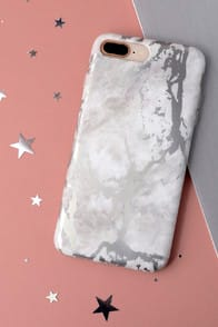 WHITE MARBLE SILVER CHROME IPHONE 7 PLUS CASE at Lulus.com!