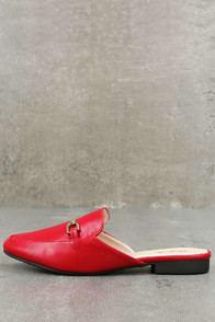 Pippin Red Loafer Slides at Lulus.com!