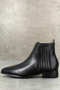 Edie Black Ankle Booties at Lulus.com!