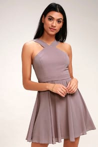 Forevermore Taupe Skater Dress at Lulus.com!