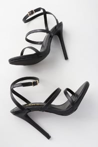 SELIA BLACK DRESS SANDALS at Lulus.com!