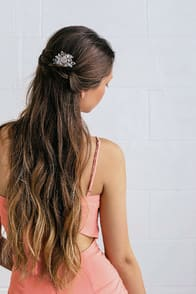 TIL I FOUND YOU GOLD AND PINK RHINESTONE HAIR COMB at Lulus.com!