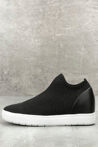 sly black knit sneakers at Lulus.com!