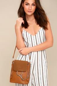 Sidewalk Stunner Brown Backpack at Lulus.com!