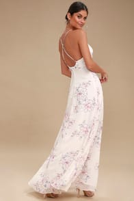 Blooms for You Pale Blush Floral Print Maxi Dress at Lulus.com!