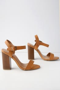 Dauphine Natural High Heel Sandals at Lulus.com!