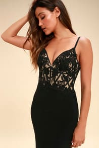 Special Affections Black Embroidered Rhinestone Maxi Dress at Lulus.com!