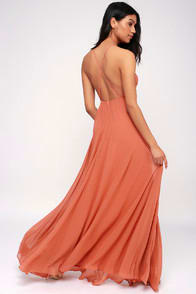 Mythical Kind of Love Rusty Rose Maxi Dress at Lulus.com!