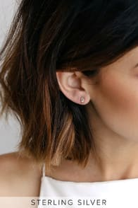 SIMPLE LOVE GOLD RHINESTONE EARRINGS at Lulus.com!