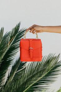 Atherton Orange Mini Purse at Lulus.com!