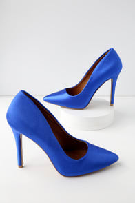 CANOVA BLUE LYCRA PUMPS at Lulus.com!
