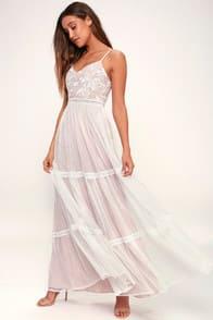 ELENORA WHITE EMBROIDERED MAXI DRESS at Lulus.com!