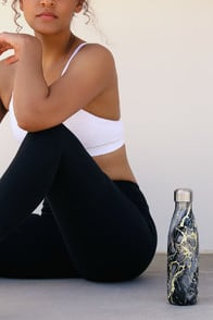 Bahamas Gold Marble Stainless Steel Water Bottle at Lulus.com!